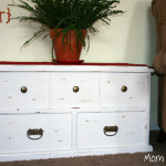 Painted/Distressed Trunk…Before & After