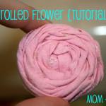 Rolled Flower Rosettes {tutorial}