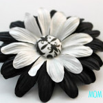 Easy Flower Hairclip w/ Covered Button
