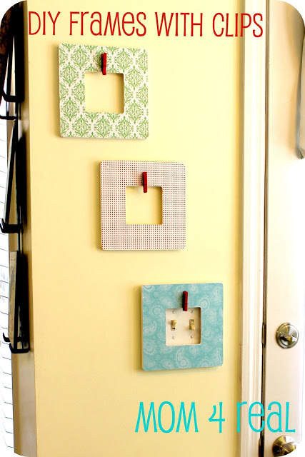 DIY Decoupaged Picture Frames w/ Clips