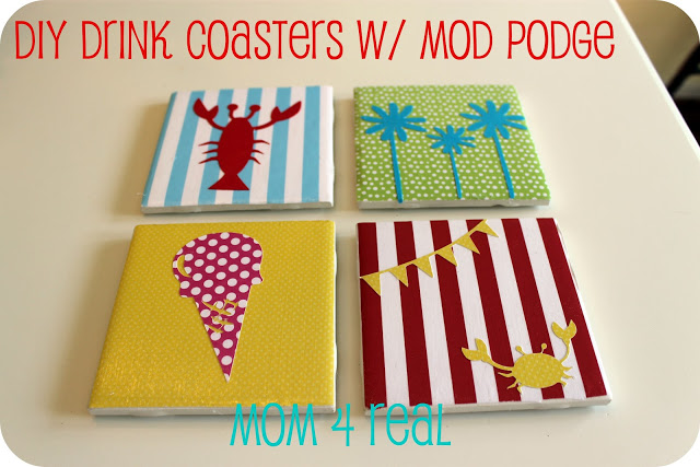 DIY Drink Coasters w/ Mod Podge