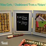 DIY Wine Cork and Chalkboard