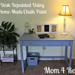 Desk Re-Painted w/ Home-Made Chalk Paint
