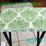 Decoupaged TV Tray {tutorial}