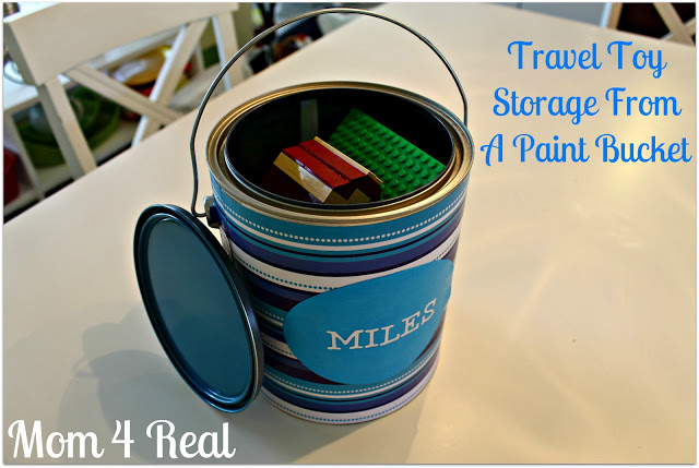 Travel Toy Storage From A Paint Bucket