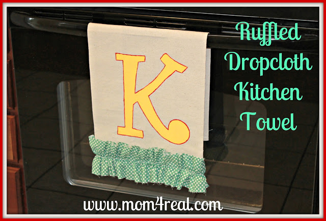 Ruffled Dropcloth Kitchen Towel