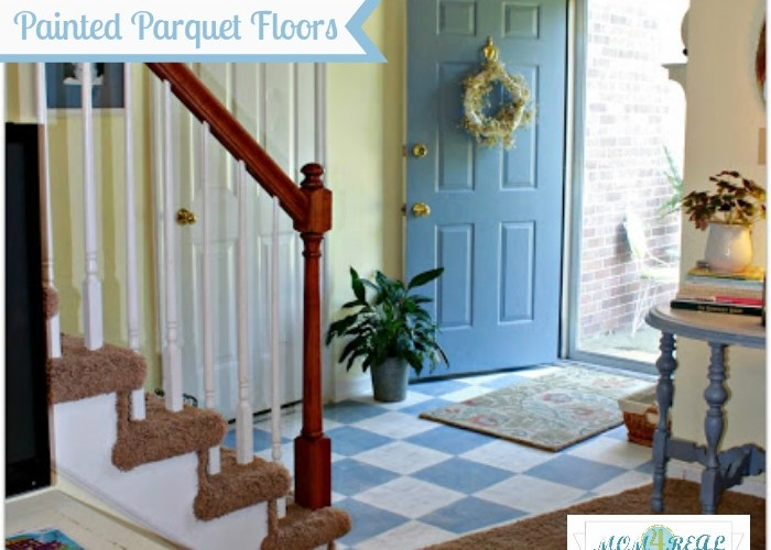 Painted Wood Floors (Country Living Magazine Knock-Off)