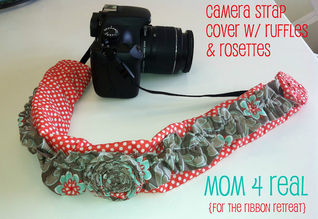Easy Sew Camera Strap Cover {2 Options}
