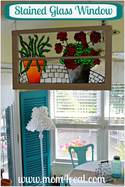 Faux stained glass window mom 4 real for Make your own stained glass window film