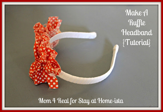 Make A Ruffled Headband {tutorial}