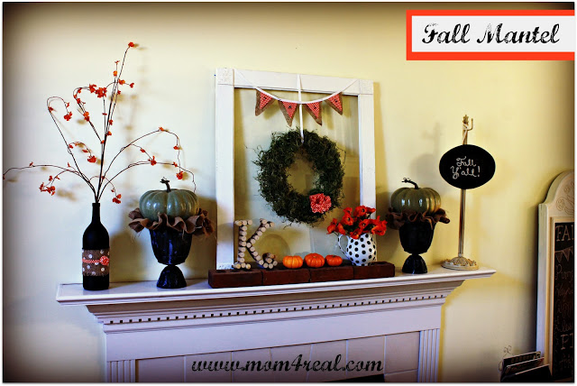 It's Fall Y'all…Fall Mantel 2012