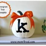 Simple Monogrammed Pumpkin