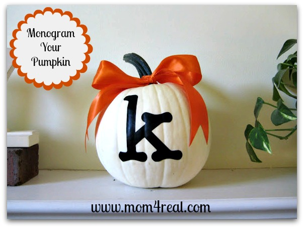 Simple Monogrammed Pumpkin