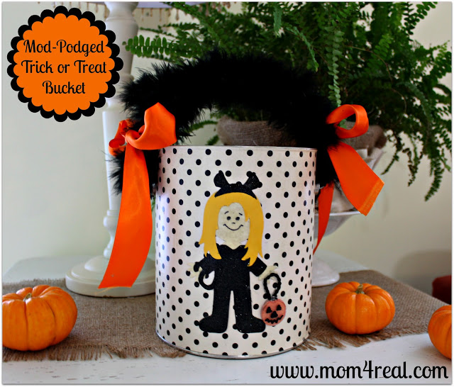 Trick or Treat Bucket With Mod Podge