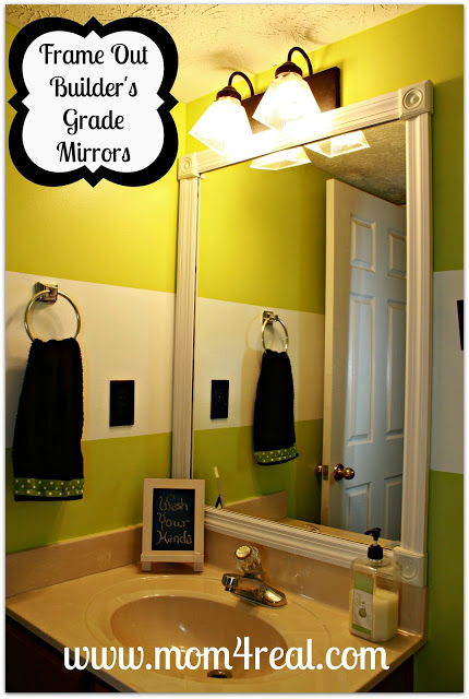 framing builder grade bathroom mirror frame out your builder s grade mirror without mitering 23212 | mirrorframeout