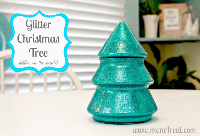 Glitter In Glass Christmas Tree