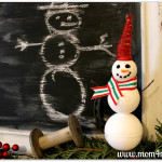 Make A Snowman With Styrofoam