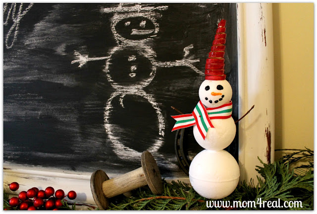 Make A Snowman With Styrofoam