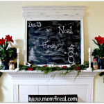 Christmas Mantel 2012 … Chalkboard LOVE!