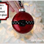 Santa's Belt Ornament {Glitter in Glass}