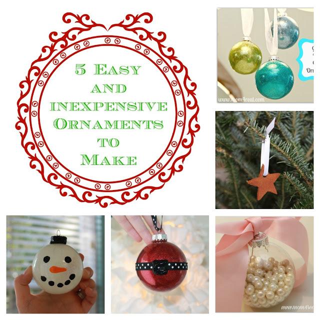 How To Make Christmas Decorations Easy: 5 Easy To Make Homemade Christmas Ornaments