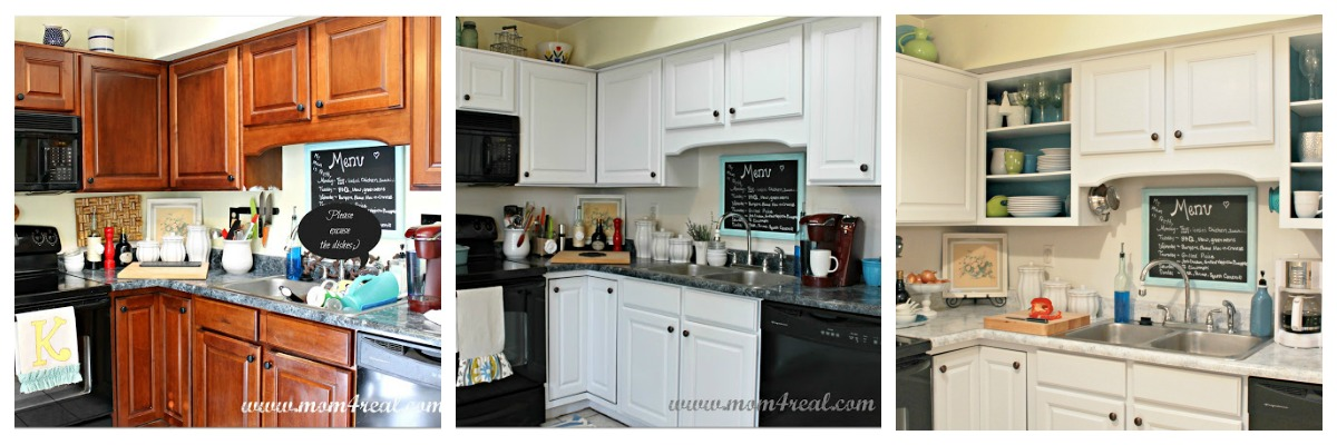 attractive How To Spruce Up Kitchen Cabinets #3: Paint Your Kitchen Cabinets at www.mom4real.com