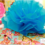 Tissue Paper Flower (Pom) Tutorial & Big Announcement!
