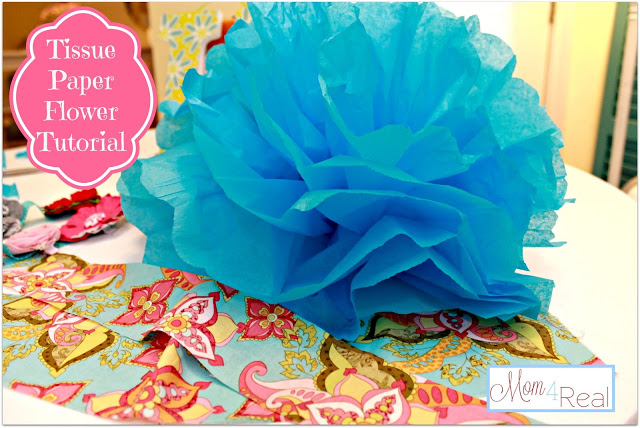 Tissue Paper Flower (Pom) Tutorial & Big Announcement!