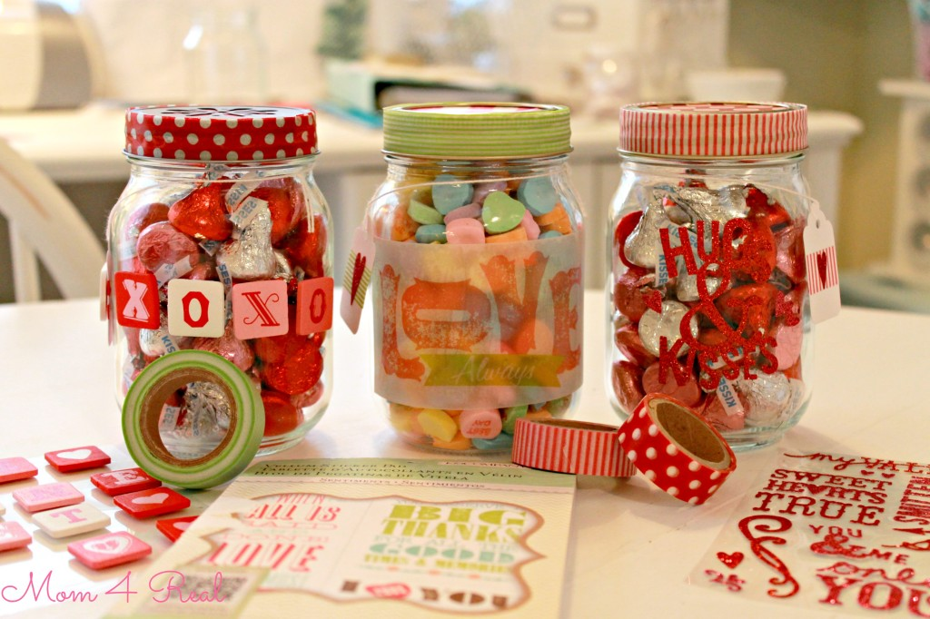 Simple Valentine's Day Craft / Gift Using Mason Jars