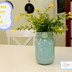 Painted Mason Jar Vase (Paint On The Inside)