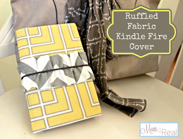 Ruffled Fabric Kindle Fire Cover (Will Work for Nook and iPad Too!)