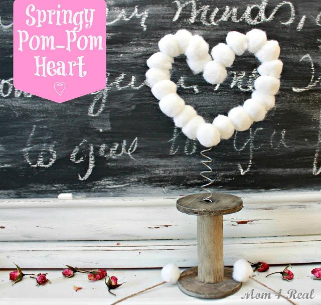 Springy Pom Pom Heart