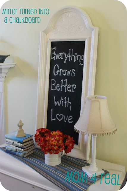 mirror-turned-chalkboard