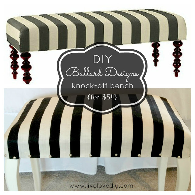 Ballard Designs Knock Off Simone Bench (3)