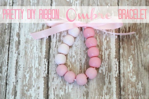 Pretty DIY Ribbon Ombre Bracelet