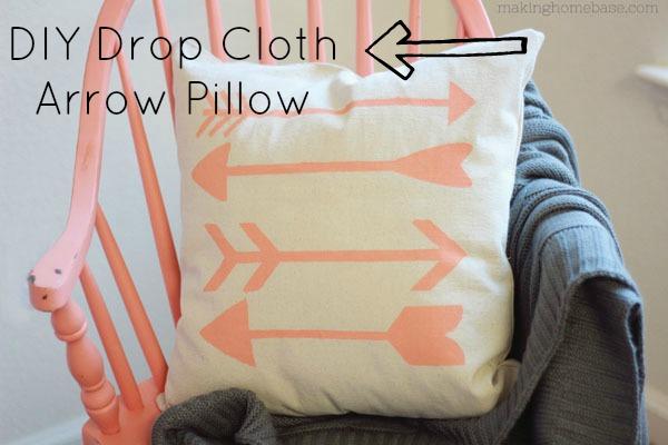 Trendy-DIY-Drop-Cloth-Arrow-Pillow-DIY