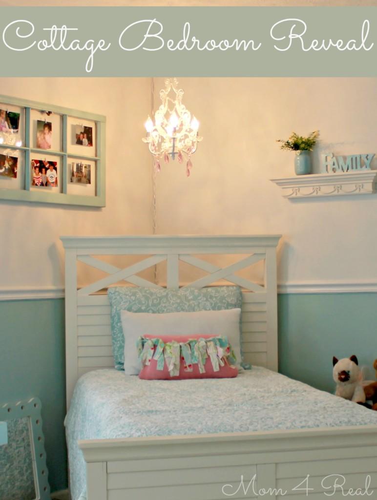 Cottage Bedroom Reveal at www.mom4real.com