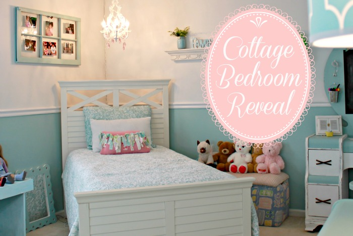 Little Girl's Handmade Cottage Bedroom on a Budget at www.mom4real.com