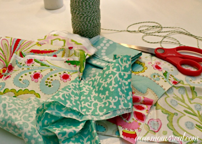 DIY Throw Pillows With Rag Garland Embellishment