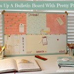 Dress Up A Bulletin Board With Pretty Paper