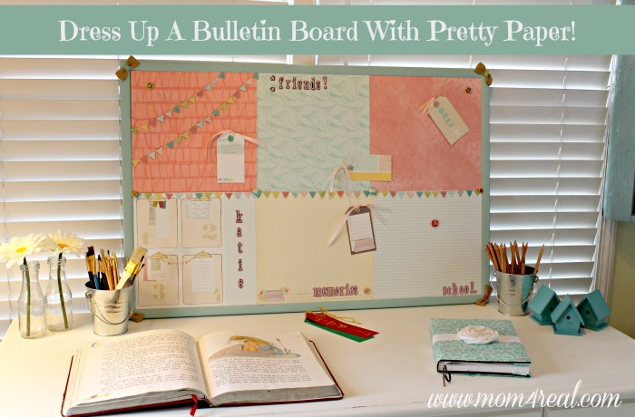 dress up a cork bulletin board w dear lizzy 5th amp frolic