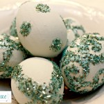 Decorating Easter Eggs With German Glass Glitter