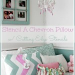Stenciled Chevron Pillow & A Cutting Edge Stencil Giveaway!