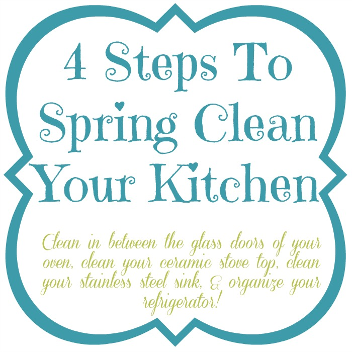 4 Steps To Spring Clean Your Kitchen at www.mom4real.com