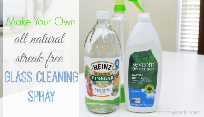 Picture from Mom4Real about making your own natural glass cleaner