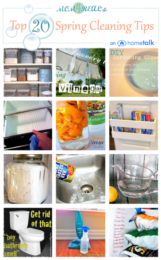 Mom 4 Real's Top 20 Spring Cleaning Tips on Hometalk