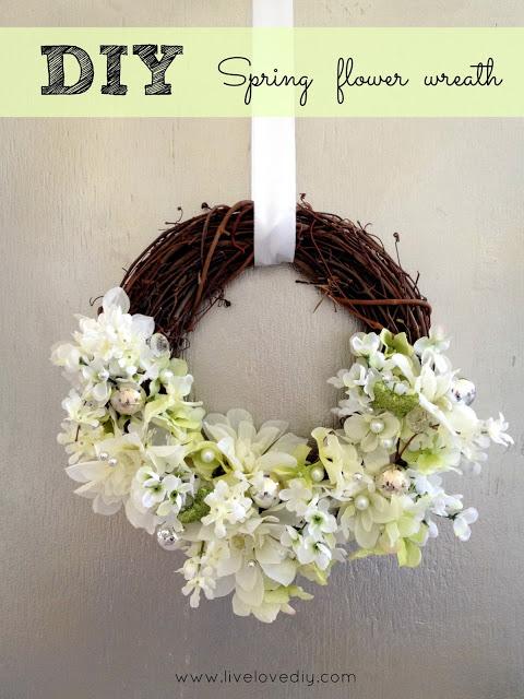 Easy Spring Flower Wreaths