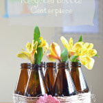 Recycled Bottle Centerpiece