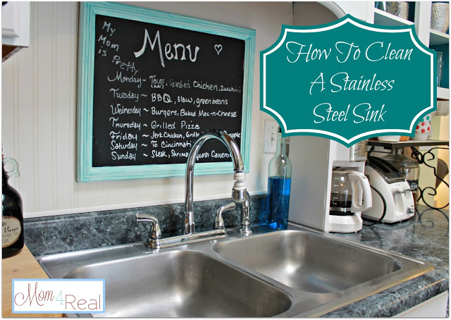 Clean Your Stainless Steel Sink at www.mom4real.com