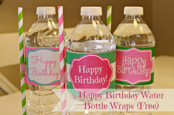 Free Printable Happy Birthday Water Bottle Label Wraps